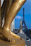 Trocadéro, Tour Eiffel, Paris, Ile de France, France