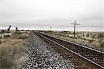 Train Track, Marfa, Presidio County, Texas, USA