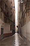 Pedestrian Street in Barcelona, Catalonia, Spain