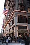 Seigneur et Taylor bâtiment décoré pour Noël, Manhattan, New York City, New York, États-Unis