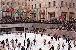 Glace au Rockefeller Center, Manhattan, New York City, New York, États-Unis
