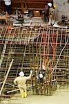 Bauarbeiter auf einer Baustelle arbeiten