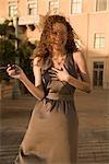 Woman holding a cigar and laughing,Biltmore Hotel,Coral Gables,Florida,USA