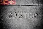 Text engraved on a wall,Castro District,San Francisco,California,USA