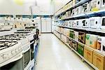 Kitchen appliances in a supermarket
