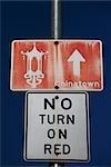 Close-up of a road sign,San Francisco,California,USA
