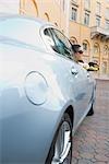 Woman smiling in a car,Biltmore Hotel,Coral Gables,Florida,USA