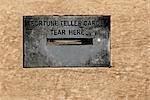 Close-up of fortune teller card box,Santa Monica,Los Angeles County,California,USA
