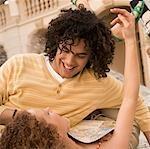 Close-up of a couple having fun,Biltmore Hotel,Coral Gables,Florida,USA