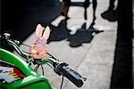 Toy on a bicycle handlebar,Haight-Ashbury,San Francisco,California,USA