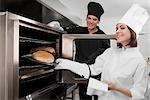 Préparation de la nourriture dans la cuisine de chefs