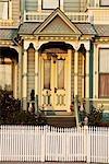 Facade of a Victorian style house,California,USA