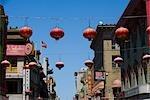 Chinese lanterns hanging in a city,Chinatown,San Francisco,California,USA