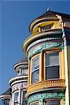 Row of Victorian style houses,Haight-Ashbury,San Francisco,California,USA
