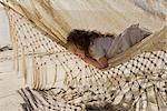 Bébé fille couché dans un hamac, Cabo San Lucas, Mexique