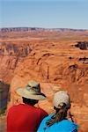 Tourists on an arid landscape,Horseshoe Bend,Page,Arizona,USA