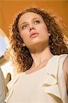 Close-up of a woman thinking,Biltmore Hotel,Coral Gables,Florida,USA