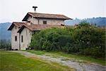 House at the roadside,Corte Franca,Brescia Province,Lombardy,Italy