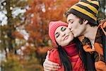 Couple Outdoors in Autumn
