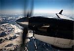 Propeller of Plane over Coast Mountains, British Columbia, Canada