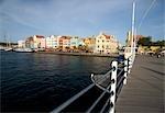 Queen Emma Bridge, Santa Anna Bay, Willemstad, Curacao, Netherlands Antilles