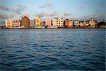 Willemstad Harbor au crépuscule, Willemstad, Curacao, Netherlands Antilles
