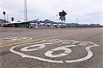 Roy Motel et café sur la Route 66, Amboy, Californie, USA