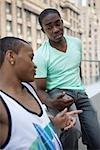 Two Man Talking, New York City, New York, USA