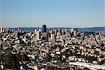 View from Portola Drive, Twin Peaks, San Francisco, California, USA