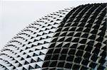 Nahaufnahme des Daches, Singapur Esplanade Theater.