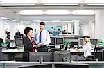 A busy modern office scene