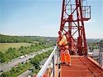Crane Worker On A Crane