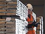 Port travailleur inspection fret