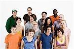 Porträt einer Gruppe von Männern und Frauen zusammen stehen