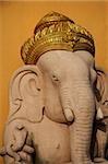 Elephant God,Ganesh with gold turban.