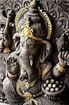 Indian God,Ganesh with gold details.