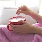 Blanket and warm milk