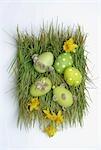 Green easter nest