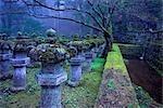 Stone Lanterns at Dusk, Taiyuin-byo Shrine, Nikko National Park, Japan