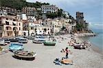 Plage, Cetara, Province de Salerno, Campanie, Italie