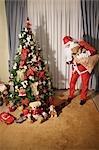 Santa Claus Bringing Toys