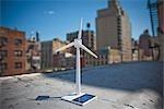 Modèle de Turbine éolienne sur le toit