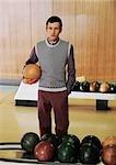 Portrait d'homme Bowling