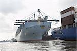 Ship at Loading Dock, Hamburg, Germany