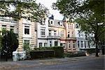 Houses in Winterhude, Hamburg, Germany