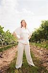 Portrait of Wine Maker in Vineyard