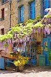 Cafe in Dinan, Ille-et-Vilaine, Brittany, France