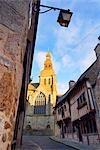 Basilica Saint-Sauveur at Sunset, Dinan, Ille-et-Vilaine, Brittany, France