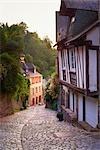 Half Timber Houses at Dawn, Dinan, Ille-et-Vilaine, Brittany, France
