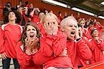 Fans désespérés au match de football
